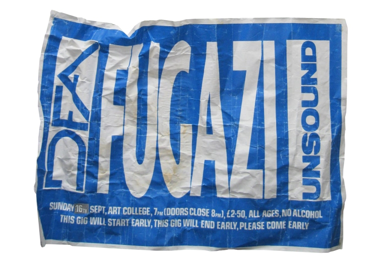 early fugazi poster design and print- september 1990