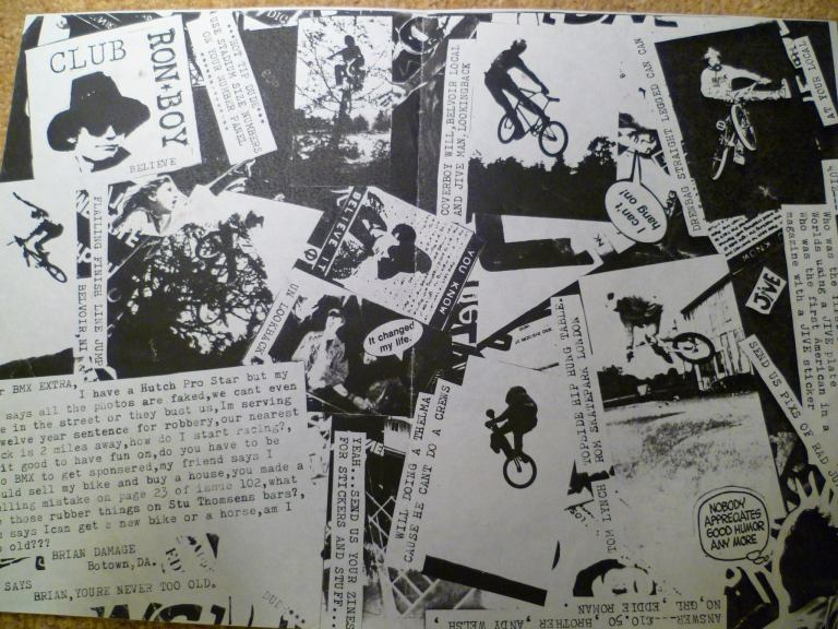 flail 1 inside - our first ever homemade zine circa 88