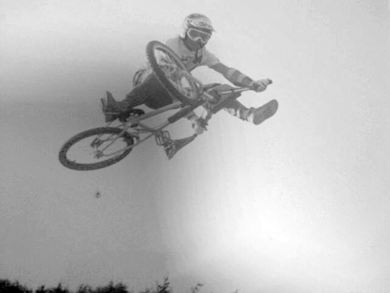 will smyth circa1988 wigan - inbetween motos at a UK BMX race