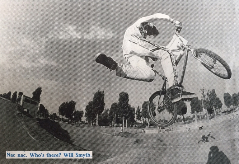 will smyth nac nac photo by Spike Jonze - from BMX ACTION MAGAZINE - march 1989